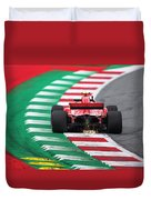 Kimi Raikkonen Austria 2018 Duvet Cover