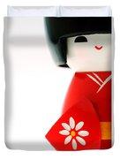 Kokeshi Doll Duvet Cover