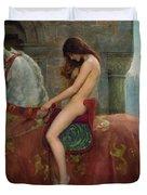 Lady Godiva Duvet Cover by John Collier