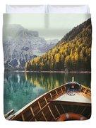 Lago Di Braies Duvet Cover