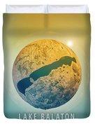 Lake Balaton 3d Little Planet 360-degree Sphere Panorama Duvet Cover
