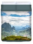 Landscape Around Kasi In North Laos Duvet Cover