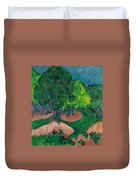 Landscape With Chestnut Tree Duvet Cover