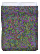 Leaves In Abstract  Duvet Cover