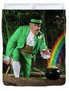Leprechaun With Pot Of Gold Duvet Cover