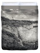 Lighthouse And Cliffs Duvet Cover