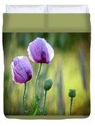 Lilac Poppy Flowers Duvet Cover