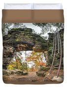 Little Pravcice Gate - Famous Natural Sandstone Arch Duvet Cover