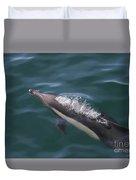 Long-beaked Common Dolphins In Monterey Bay 2015 Duvet Cover
