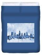 Los Angeles Skyline-blue Duvet Cover
