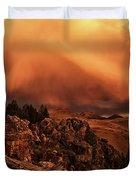 Lost River Sunset Duvet Cover