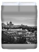 Madrid Panorama From Debod Lookout Madrid Spain Duvet Cover