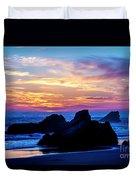 Magical Sunset - Harris Beach - Oregon Duvet Cover