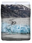 Magnificent Sawyer Glacier At The Tip Of Tracy Arm Fjord Duvet Cover