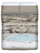 Mammoth Hot Springs Upper Terraces In Yellowstone National Park Duvet Cover