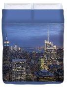 Manhattan Skyline New York Duvet Cover