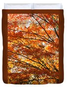 Maple Tree Foliage Duvet Cover