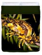Marbled Wood Frog Duvet Cover