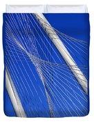 Margaret Hunt Hill Bridge In Dallas - Texas Duvet Cover