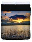Mcintosh Lake Sunset Duvet Cover
