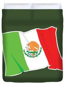 Mexico Flag Duvet Cover