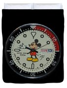 Mickey Mouse Watch Face Duvet Cover