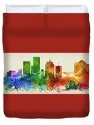 Milwaukee Skyline Panorama Uswiml-pa03 Duvet Cover