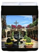 Mission Inn Chapel Courtyard Duvet Cover