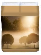 Morning At Golf Course Duvet Cover