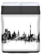 Moscow Russia Skyline Duvet Cover