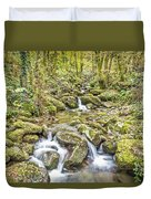 Mountain Stream In Autumn Duvet Cover
