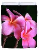 Na Lei Pua Melia Aloha He Ala Nei E Puia Mai Nei Pink Plumeria Duvet Cover
