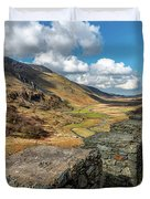 Nant Ffrancon Pass Snowdonia Duvet Cover