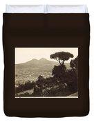 Naples: Mt. Vesuvius Duvet Cover