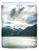 Nature And Mountains Around Skagway Alaska Duvet Cover