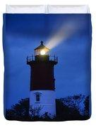 Nauset Lighthouse Night Duvet Cover
