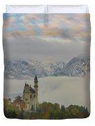 Neuschwanstein Castle Landscape Duvet Cover