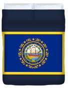 New Hampshire Flag Duvet Cover