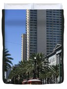 New Orleans Cable Car Duvet Cover