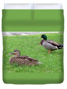 New Zealand - Pair Of Mallard Duck Duvet Cover