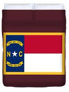 North Carolina Flag. Duvet Cover