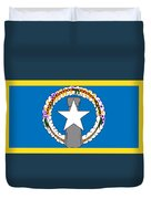 Northern Marianas Flag Duvet Cover