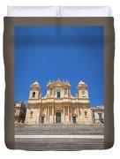 Noto, Sicily, Italy - San Nicolo Cathedral, Unesco Heritage Site Duvet Cover