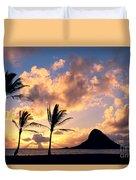 Oahu, Mokolii Island Duvet Cover