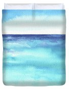 Ocean Watercolor Hand Painting Illustration. Duvet Cover