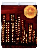 Wild L.a Moon Duvet Cover