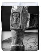 Old Claw Hammer With Wooden Handle Bw Duvet Cover