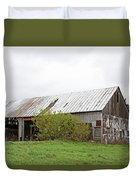 Old Weathered  Barn  Duvet Cover