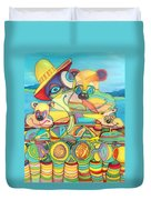 One Day On The Lake Duvet Cover