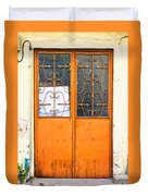 Orange Door Duvet Cover